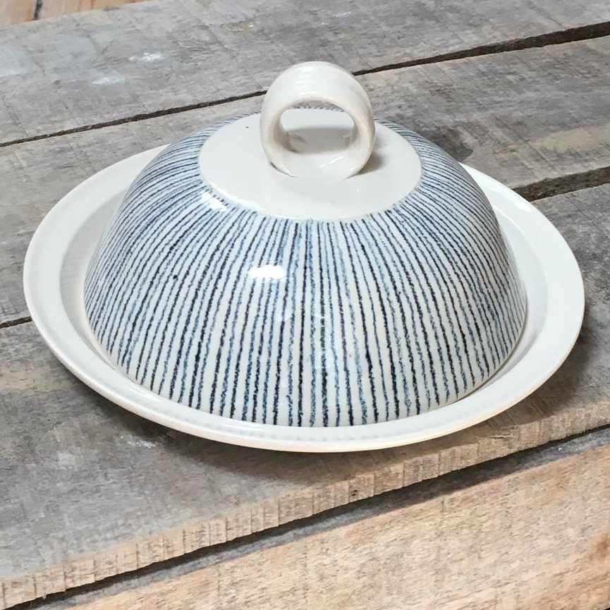 Butter Dish - Stripe