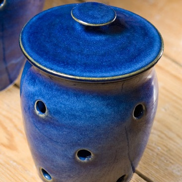 Garlic Pot - Blue