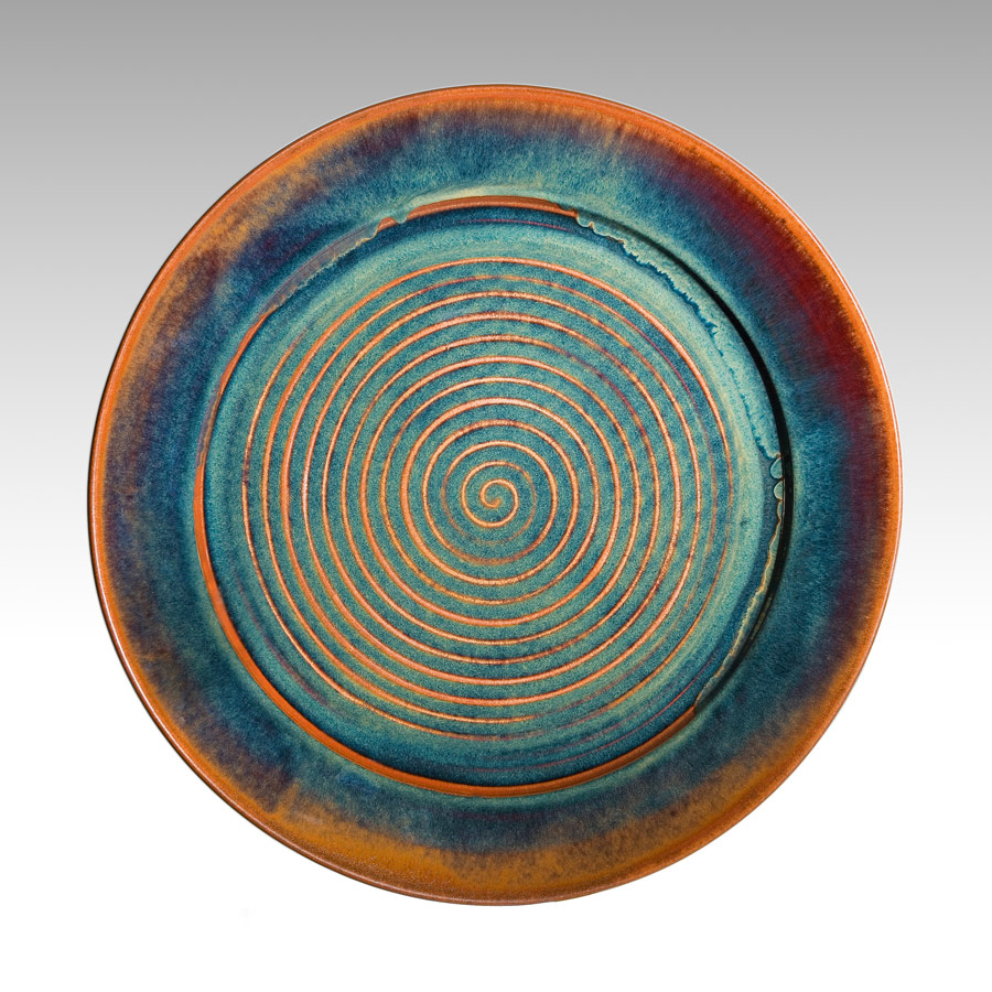 Large platter - brown