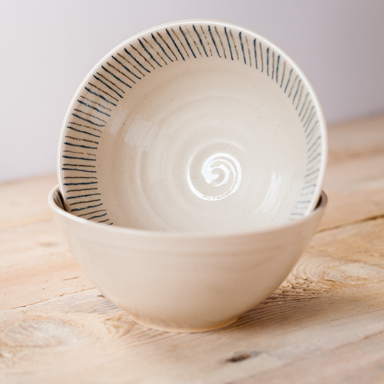 Pasta bowl - Stripe