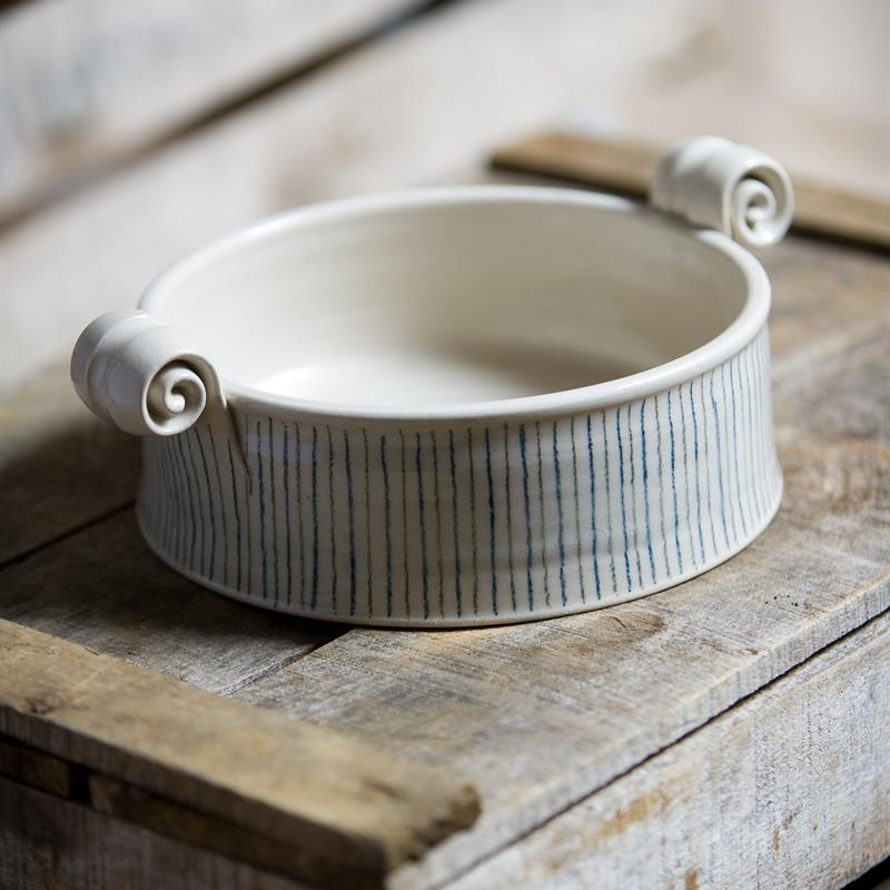 Small serving dish - Stripe