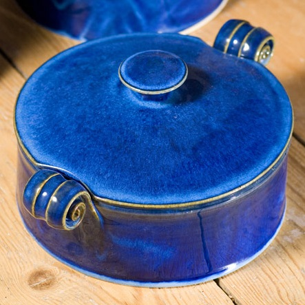 Small serving dish with lid - Blue