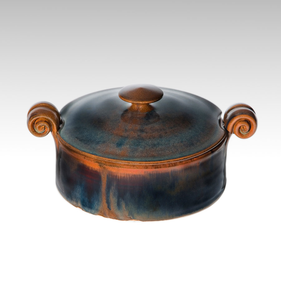 Small serving dish with lid - Brown