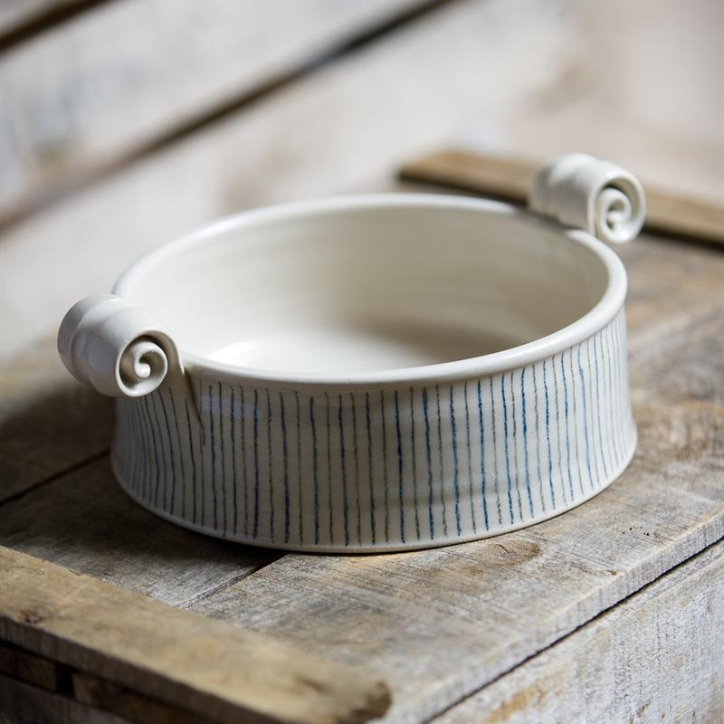 Small serving dish with lid - Stripe